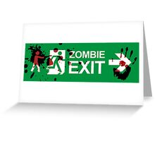 Zombie Exit - Variant Greeting Card