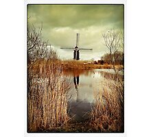 Windmill Landscape Photographic Print