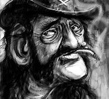 Lemmy caricature by Matt Bissett-Johnson
