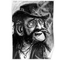 Lemmy caricature Poster