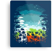 Rainforest city Metal Print