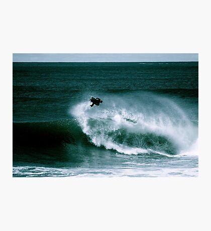 Big Air Forward Spin at Shark Island Photographic Print