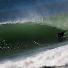 Ben Player Barrel at Shark Island by Andrew  MCKENZIE