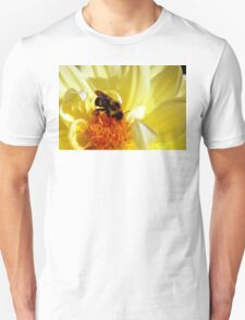 Yellow Flower with Bee T-Shirt