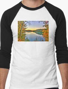 Pink Lake Reflections Men's Baseball ¾ T-Shirt