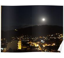 Full Moon with the Planet Mars above the Sierra Madre 7th of March 2012 Poster