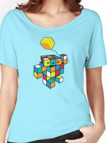 CUBE WITH A CUBE Women's Relaxed Fit T-Shirt