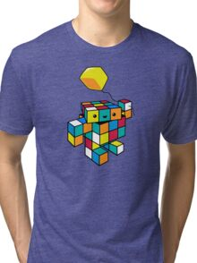 CUBE WITH A CUBE Tri-blend T-Shirt