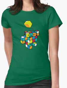 CUBE WITH A CUBE Womens Fitted T-Shirt