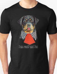 Rottweiler dog ready elegant  Unisex T-Shirt