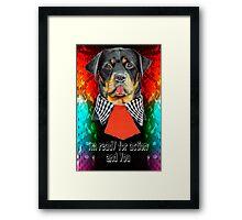 Rottweiler dog ready elegant  Framed Print
