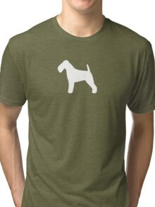 Welsh Terrier Silhouette(s) Tri-blend T-Shirt