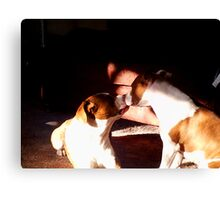 Buster and Sweetie soo in love Canvas Print