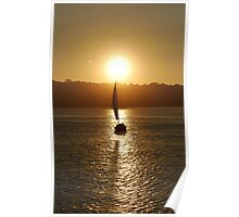 Silhouetted Sail Poster