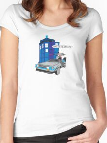 Time Travel Jump Start Women's Fitted Scoop T-Shirt