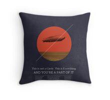 Circle Concept. Throw Pillow