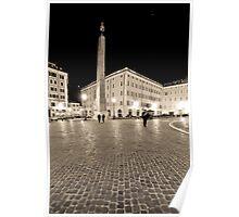 Cobblestone Piazza Poster