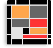 Mondrian style design orange red black gray Canvas Print
