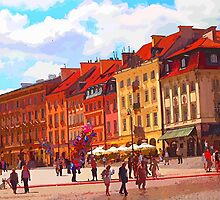 Townsquare in Warsaw, Poland by tgarden