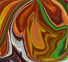 Multi-color Swirls Digital Art by tgarden