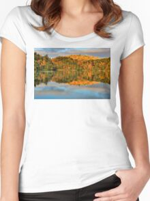 Pink Lake Reflections Women's Fitted Scoop T-Shirt