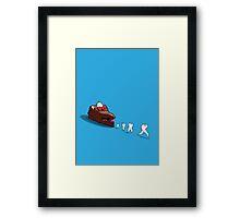 Floss away! Framed Print