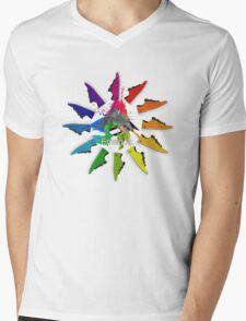 Colour Wheel Mens V-Neck T-Shirt