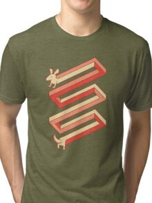 Physics doesn't apply to weiner dogs Tri-blend T-Shirt