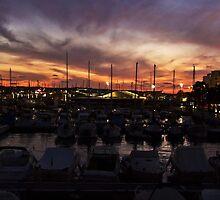Sunset over San Antonio by Tom Gomez