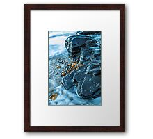 Abstract Blue Rocks Framed Print