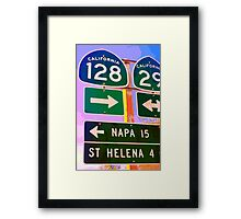 15 Miles to Napa Framed Print
