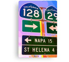 15 Miles to Napa Canvas Print