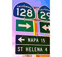 15 Miles to Napa Photographic Print