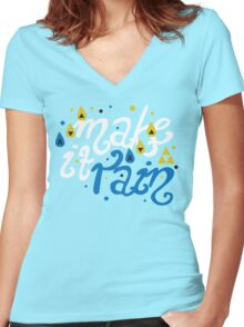Song of Storms - Make It Rain Women's Fitted V-Neck T-Shirt