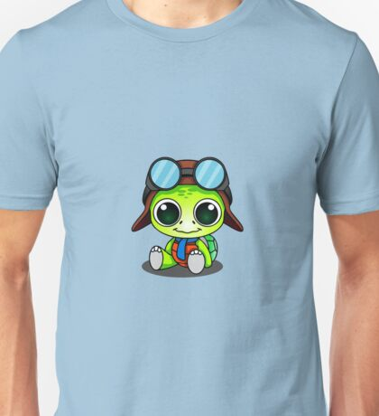 Cute Chibi Aviator Turtle Unisex T-Shirt