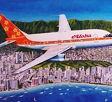 Departing Honolulu Classic Airliners by brianrolandart