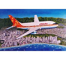 Departing Honolulu Classic Airliners Photographic Print
