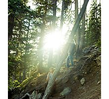 boy & squatch  Photographic Print