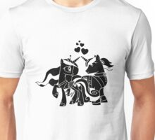 Princess Cadance and Shining Armor hearts Unisex T-Shirt