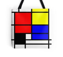 Mondrian style design in basic colors Tote Bag