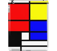 Mondrian style design in basic colors iPad Case/Skin
