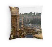 Ancient Rome Ruins Throw Pillow