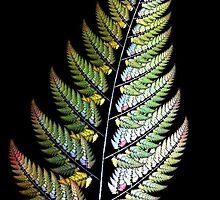 Fractal Leaf ~ iPhone Case by Greta  McLaughlin