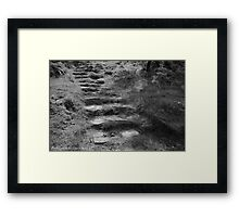 """In the Footsteps of the Saint, Slemish Mountain, County Antrim."" Framed Print"