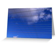 Wires and Clouds Greeting Card