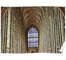 West Window View Canterbury Cathedral Poster