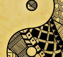 Yin and Yang Sticker