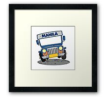 Philippine Jeepney cartoon prints Framed Print
