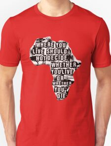 Where You Live - Africa (white) T-Shirt