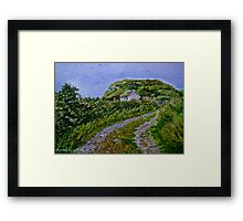 """Ruined Cottage near Kinny Lough, Magheradrumman, Fanad, Donegal."" Framed Print"